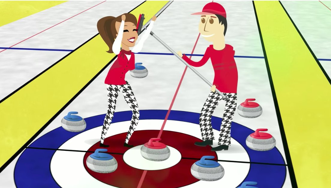 Image result for try curling cartoon