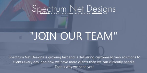 JOIN OUR TEAM! We are looking for a Node.js Developer Spectrum Net Designs - Grandville, MI  http:// ow.ly/6ysL30erTYO  &nbsp;   #JoinOurTeam <br>http://pic.twitter.com/OupWhFTxHA