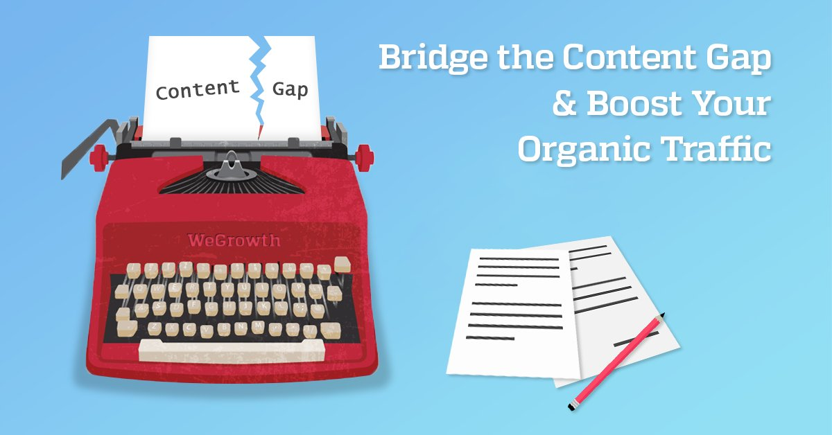 Bridge the Gap between your #content and your customers. Learn how to boost your organic traffic  #ContentMarketing  https:// wegrowth.com/how-to-bridge- content-gap-and-boost-traffic/ &nbsp; … <br>http://pic.twitter.com/5Jt6lZl0ek