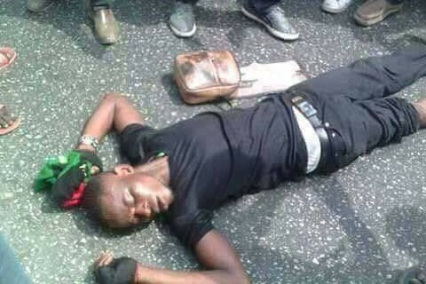 3 IPOB were reportedly killed today in Ekwulobia, Anambra state by operatives of the Nigerian security according to pictures obtained by Elombah.com.