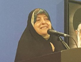 Just attended welcome ceremony for @ebtekarm as new Vice Prez for #Women-&#39;s Affrs. &quot;Iran keen to work with Int&#39;l community.&quot; @UN_Iran  #SDG5 <br>http://pic.twitter.com/1iqMv9YMDf