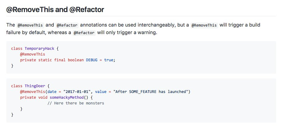 Great tool to track code that needs to be refactored and removed in your code base: papercut.  https:// buff.ly/2hQdPDh  &nbsp;   #androiddev <br>http://pic.twitter.com/XQJc3EwdfR