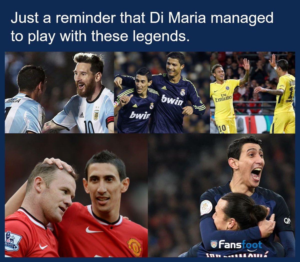 Yes he is the luckliest footblr alive  #dimaria  @angeldimaria<br>http://pic.twitter.com/TkQmkjxWBF