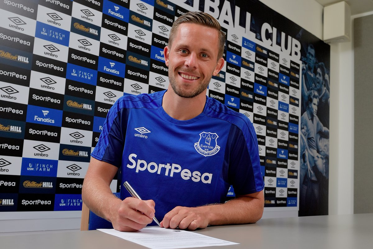 DONE DEAL: Gylfi Sigurðsson has joined Everton from Swansea for a club...