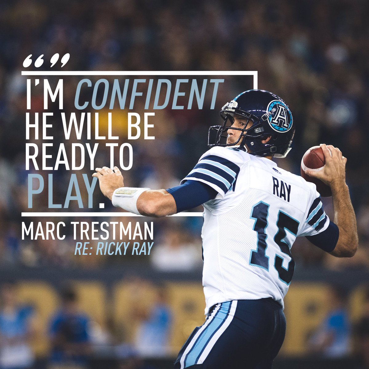 Things are looking 🆙 for 1️⃣5️⃣ this week.  #Argos #CFL https://t.co/J...