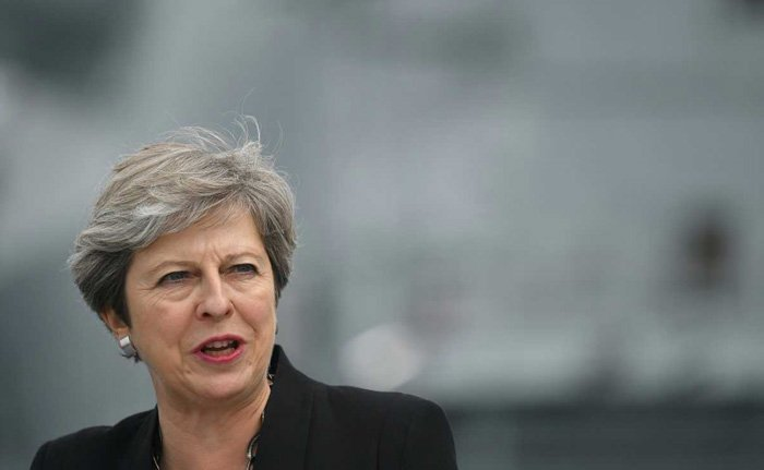 In rare rebuke of Trump, UK's Theresa May says condemn far-right views https://t.co/crucdXTSaP