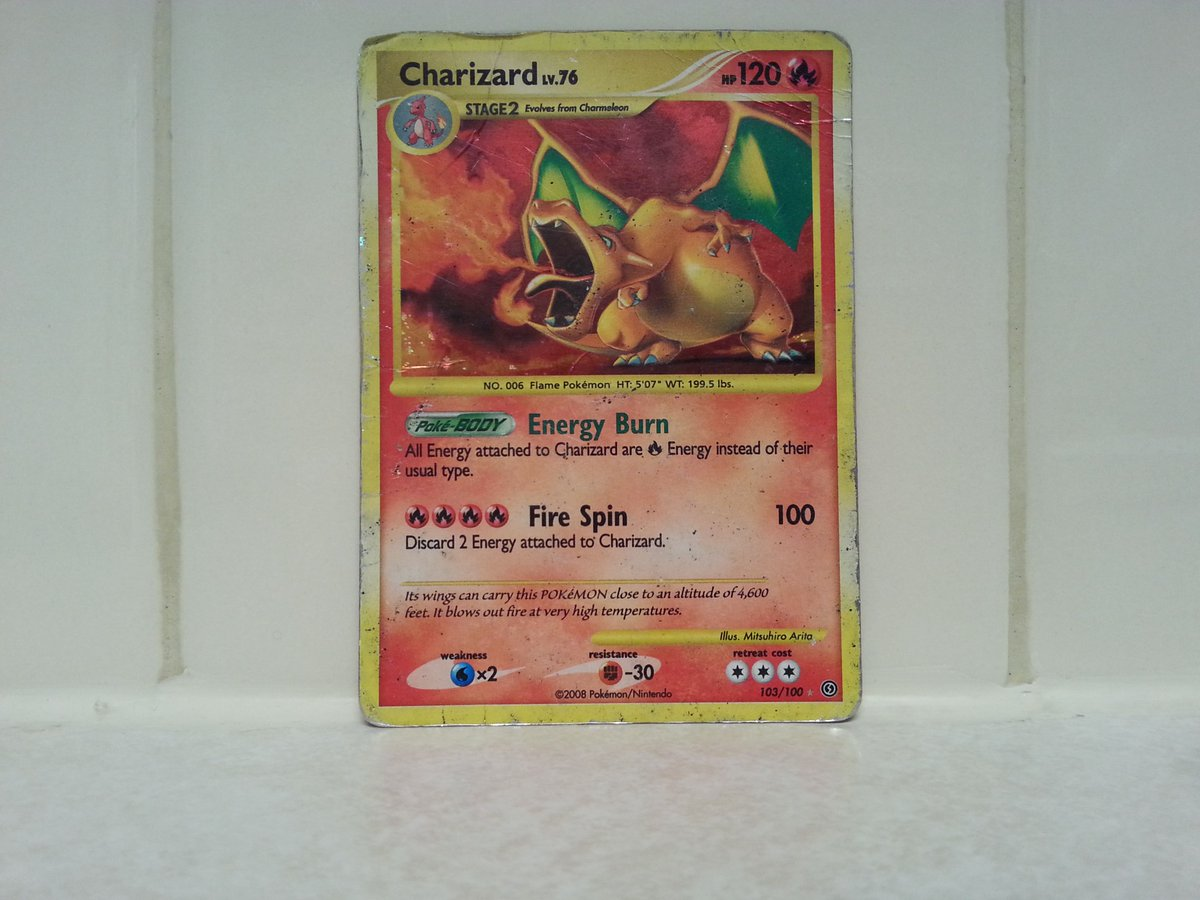 Charizard 103/100 Holo Secret rare Fire type Stage 2 120 HP Stormfront expansion #Pokémon <br>http://pic.twitter.com/RHjl0wOva3