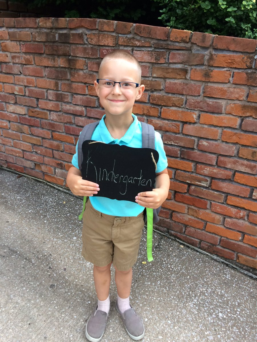 First day of Kindergarten for our little guy! We love you and are so proud of you! #bittersweet #journey #newadventures <br>http://pic.twitter.com/ThAgINnILb