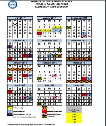 Marta Perez On Twitter Mdcps School Calendar 2017 18 Is Always