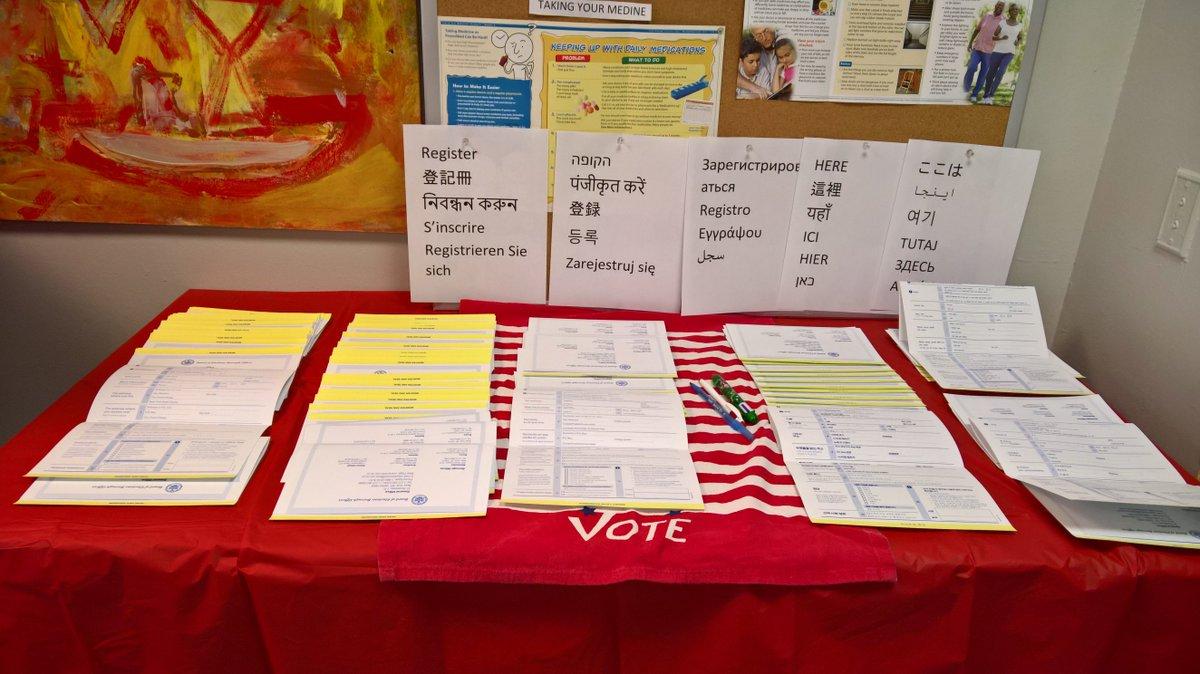 Still time 2 #Register2VOTE 546 Main St. #Roosevelt-Island UR VOICE MATTERS <br>http://pic.twitter.com/v8Lq7DGWcn