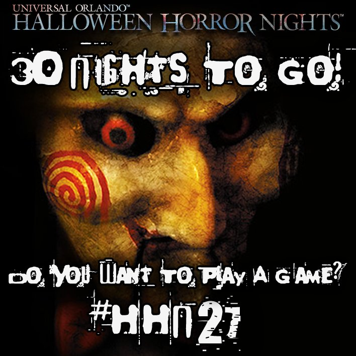 30 Nights To Go! That means there are only 30 more nightmares until @HorrorNightsORL #HHN27!! Game On?? <br>http://pic.twitter.com/VPRXKmKZwu
