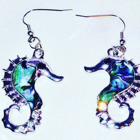 #Seahorse #Earrings in #Abalone &amp; #SterlingSilver #HandmadeJewelry by #NorthCoastCottage #Jewelry  https:// buff.ly/2uYZO7z  &nbsp;   #shop #giftsforher<br>http://pic.twitter.com/9RaZdGkIJm