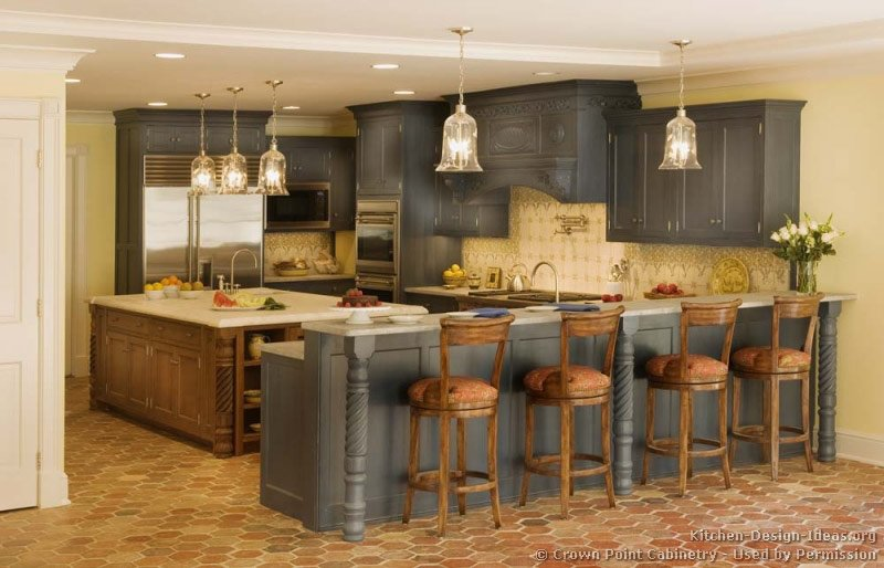 #Kitchen of the Day: Expand your color palette with two-toned kitchens.  http:// ideas.cc/2ToneKitchens  &nbsp;   (by Crown Point Cabinetry)<br>http://pic.twitter.com/dVtUSrarEX