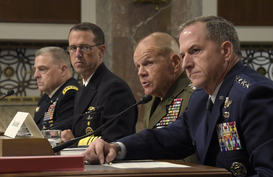 In the wake of a white supremacist rally, all four service chiefs denounce racism. https://t.co/GiFvsiext7 https://t.co/EdEV75Auhv