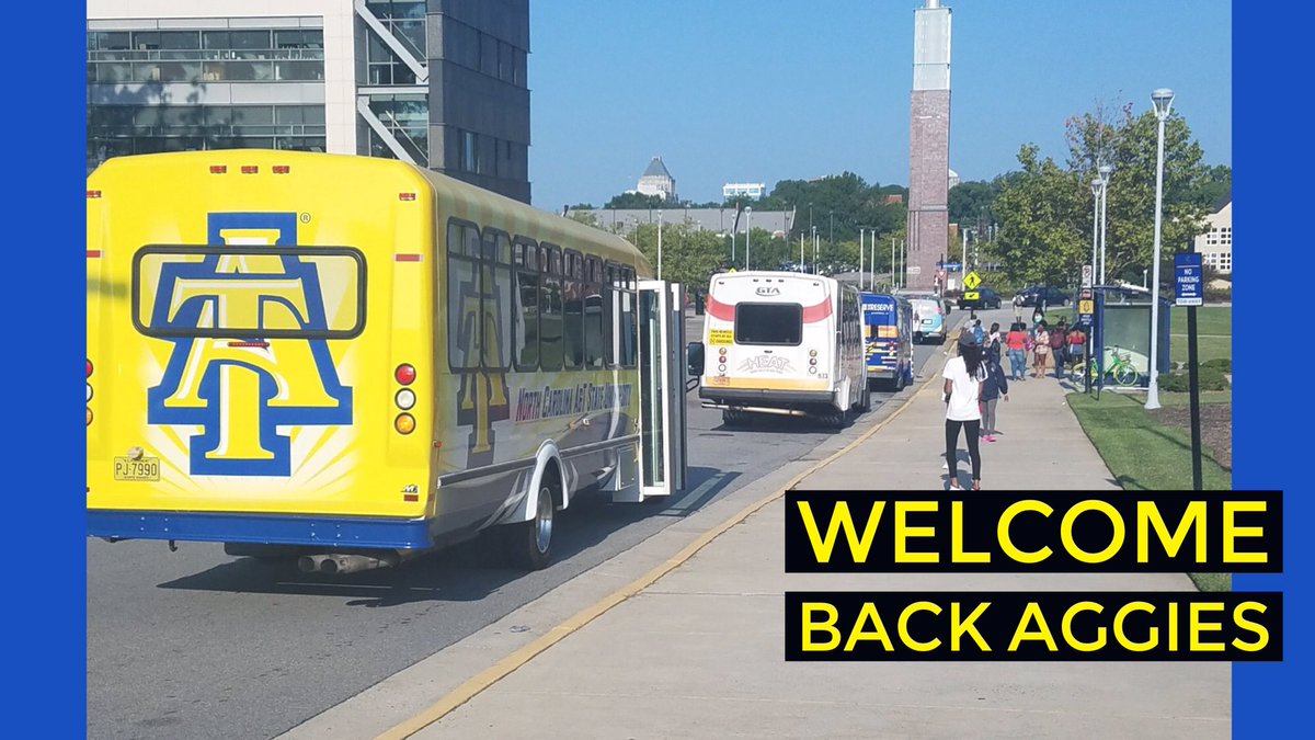 """North Carolina A&T on Twitter: """"It's midday. We're rolling. How's the first day back #Aggies ?? #NCAT… """""""