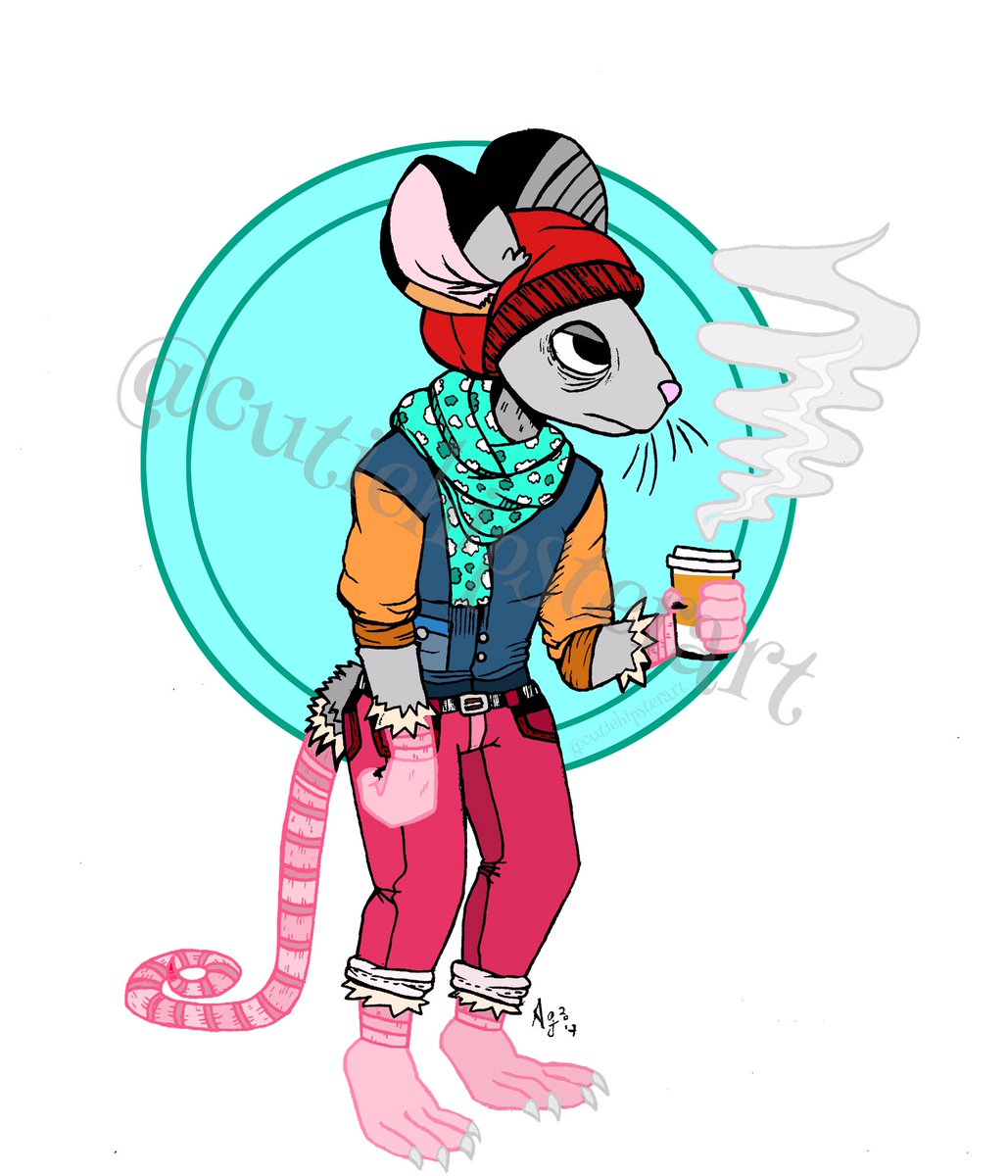 Rat hipster w coffee! #rat #furry #illustration #ink #graphicdesign #art #artist #hipster #coffee #artwork #doodle #drawing #sketch #draw<br>http://pic.twitter.com/65bMwCz2oP