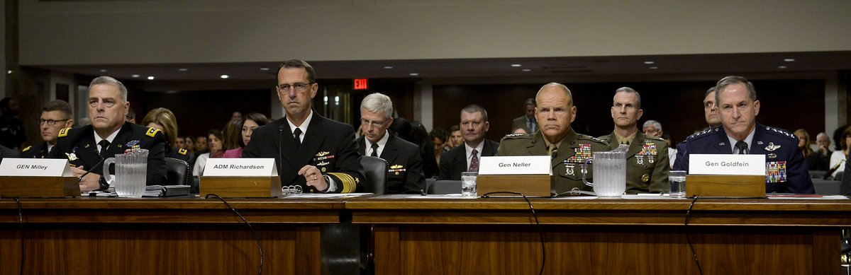 It's not often when the Army, Navy, Marine Corps and Air Force Chiefs all find it necessary to speak out against racism & hatred in America.