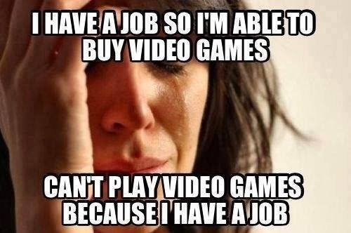 The irony... #gaming #gamer #job #cantgame https://t.co/6wycYzusa2