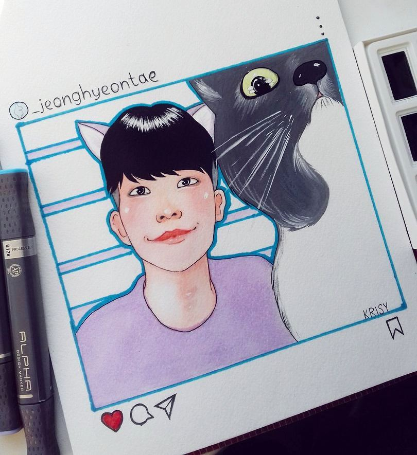 just a stupid sketch of the cutest king of catstagram  #art #fanart #drawing #sketch #artwork #illustration #traditionalart #jeonghyeontae<br>http://pic.twitter.com/OKFd1mKMxP
