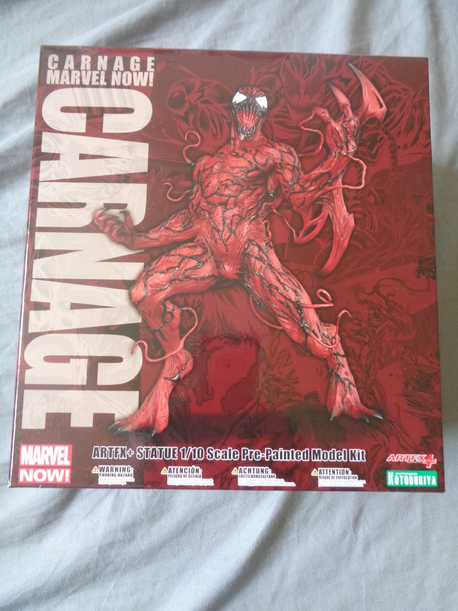 New in stock #Carnage #ArtFX #MarvelNow statue! awesome! <br>http://pic.twitter.com/0iT75IEXNa