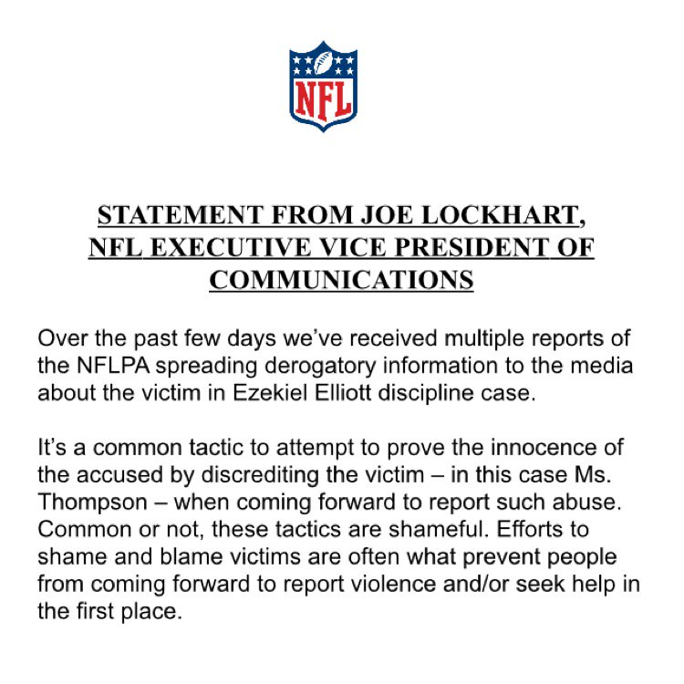 "Brian Mccarthy On Twitter: ""New Nfl Statement Https://T.Co/Kj64Rdhvb2"""