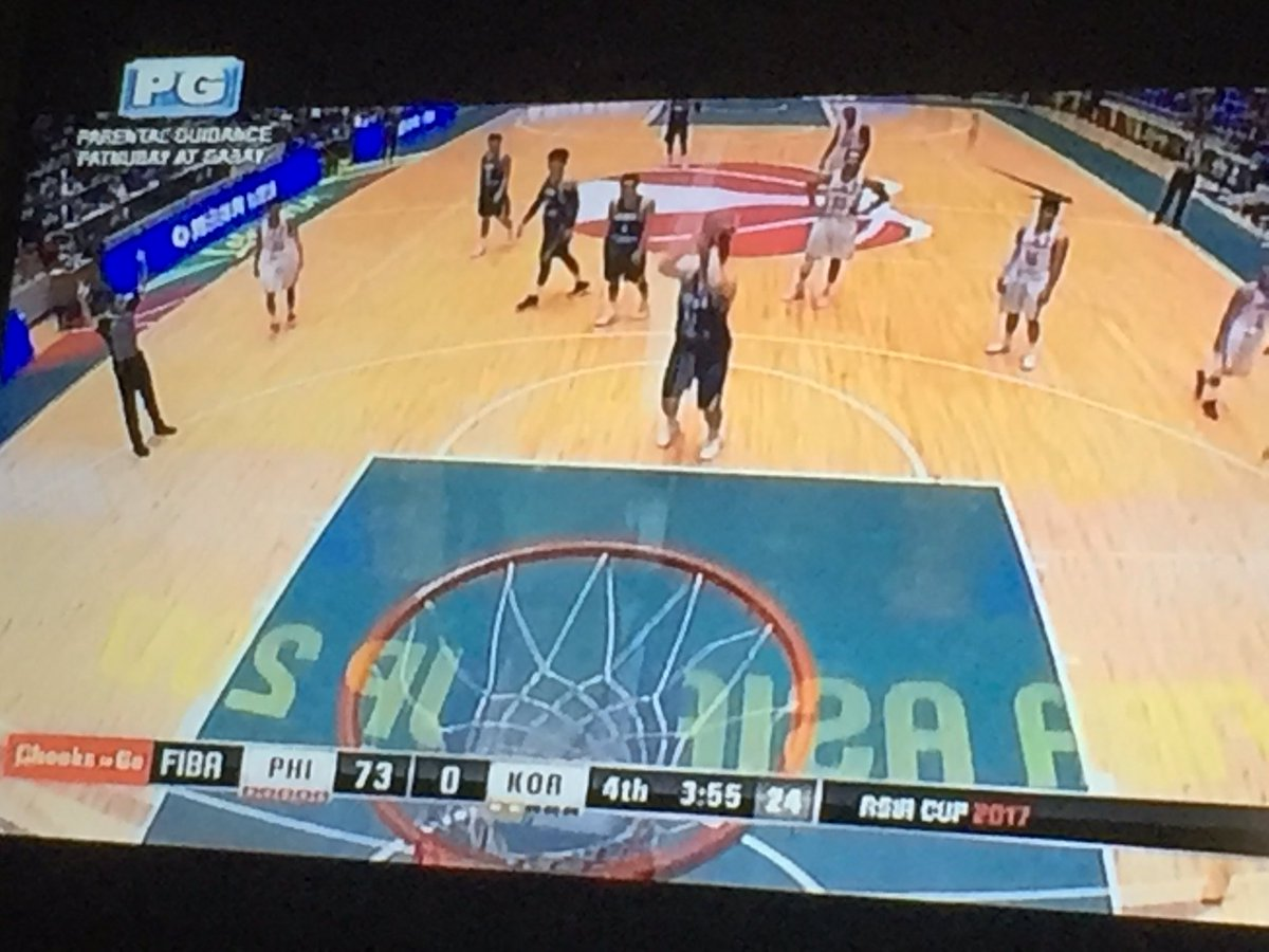 LOL THAT SCORE!! Wuhooo Philippines!! 😂😂 #FIBAAsiaCup2017 #LabanPilipi...