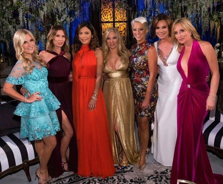 Crazy #RHONY reunion. Thx @JasenKaplan for make up and @LorettaWollner for my hair. My dress is by my dear friend @MarcBouwer