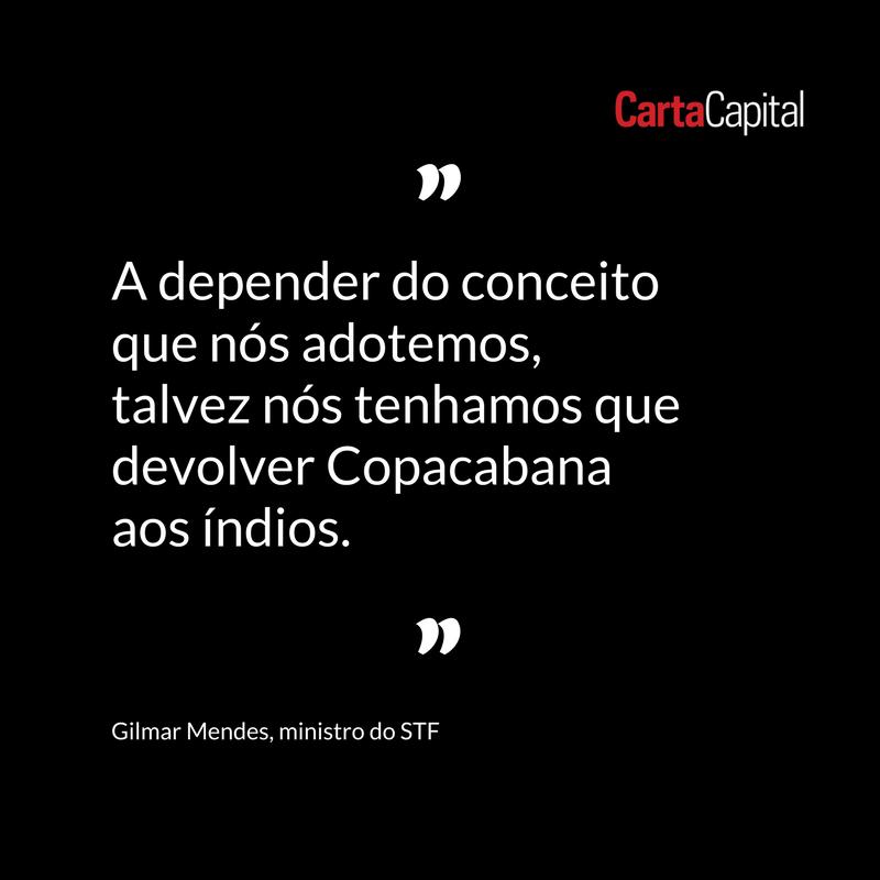 Ministro do STF Gilmar Mendes em debate sobre demarcação de terras indígenas. Leia em: https://t.co/iqKoWSOInl