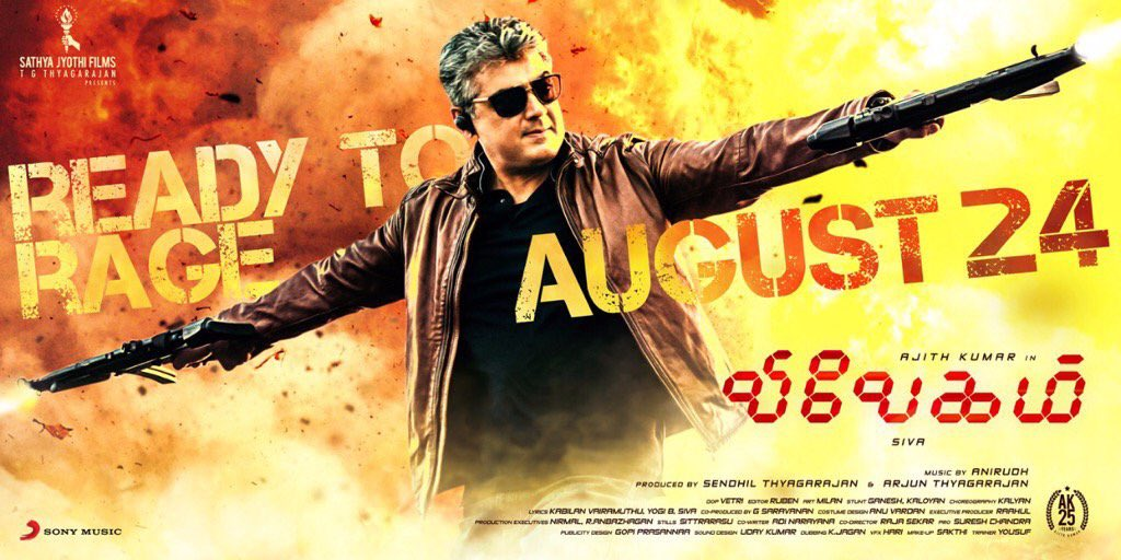 The wait is almost over! #VivegamTrailer out tonight at 12.01. Make so...