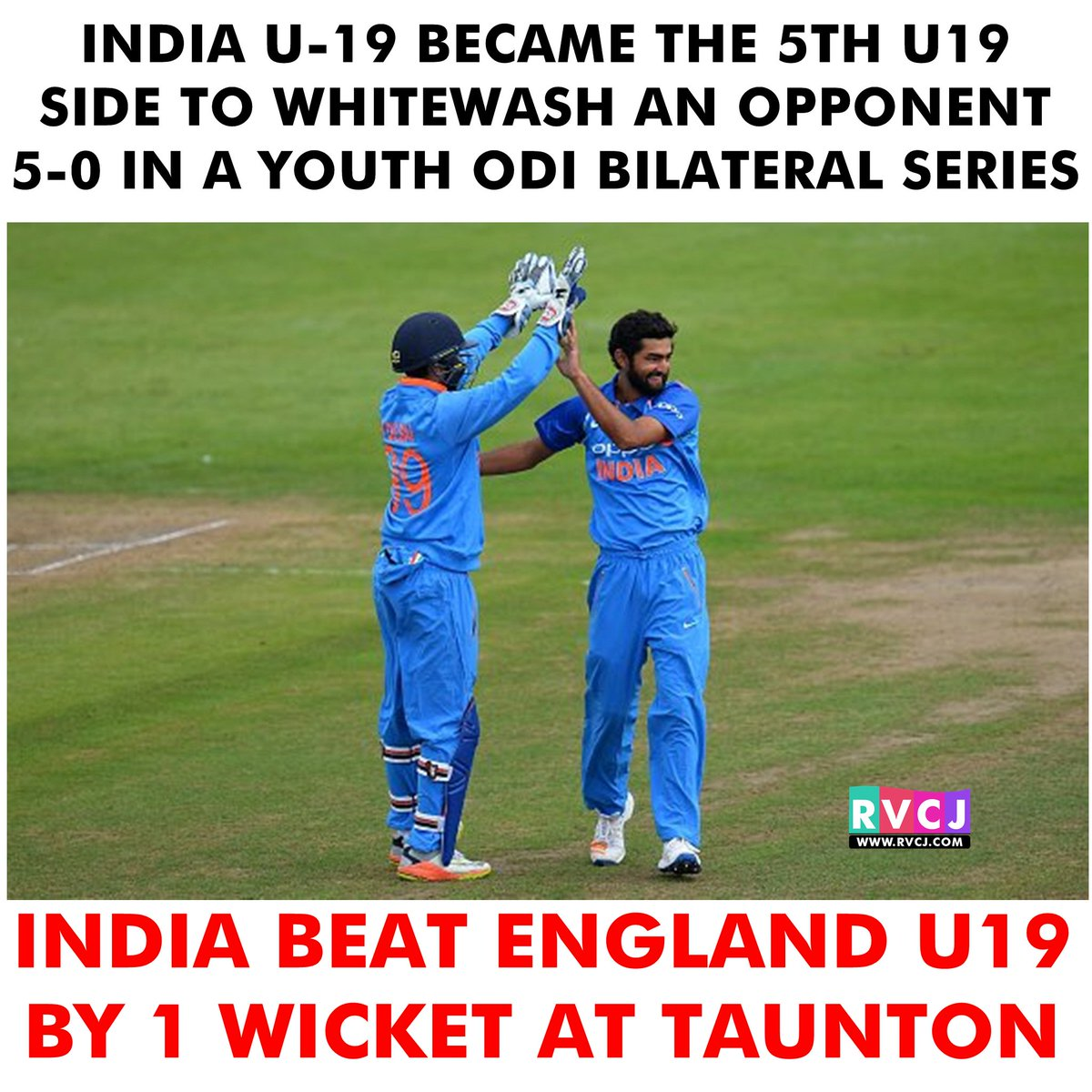 For the first time, India have affected whitewash in a 5-match Youth O...