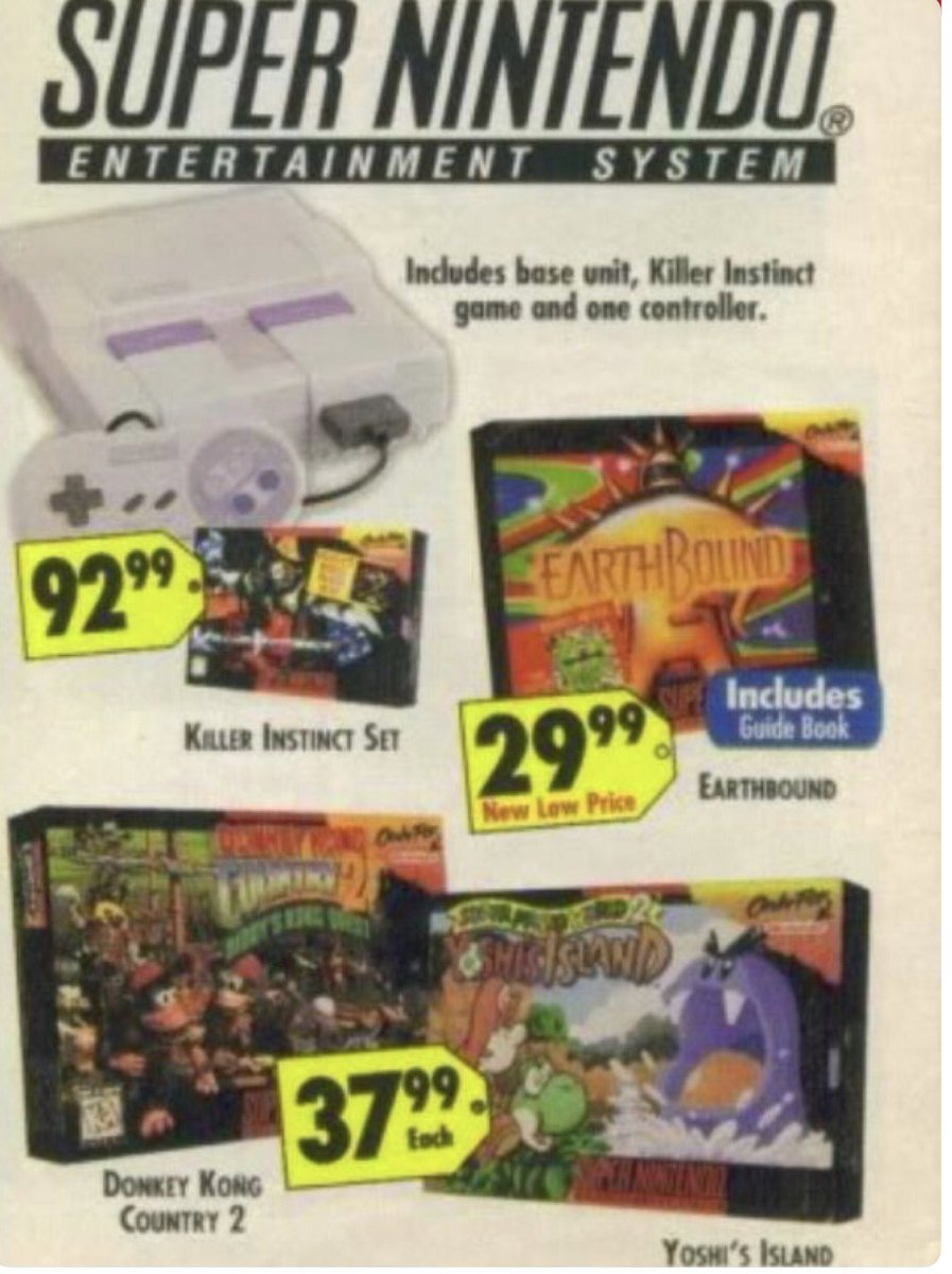 When #EarthBound was cheap af back in the day   #rt #gaming #videogames #snes #nintendo<br>http://pic.twitter.com/EnqHoeGCk4