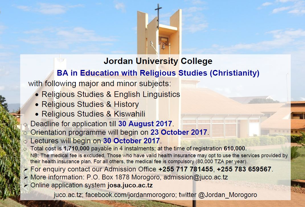 BA in Education with Religious Studies #JUCO #Morogoro #Tanzania #tz #GainWithXtianDela #education #masters #reliigousstudies #Twitter<br>http://pic.twitter.com/aWCKz3D5v0