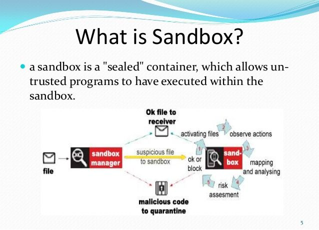 What is a #Sandbox?   https:// buff.ly/2x51b6a  &nbsp;    #CyberSecurity #Databreach #Ransomware #malware #defstar5 #makeyourownlane #Mpgvip #infosec<br>http://pic.twitter.com/dR3RBH31il