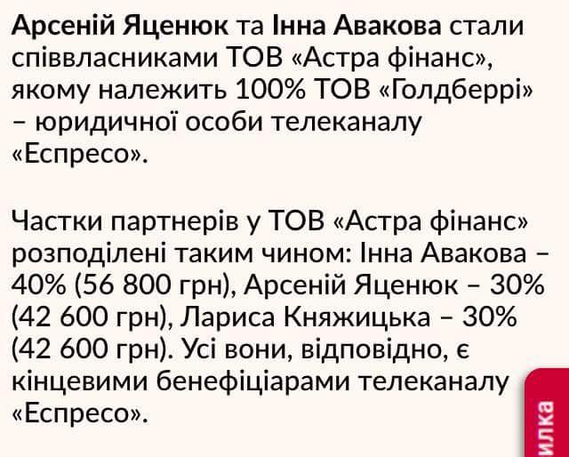 """Пресс-секретарь Яценюка о покупке доли """"Эспрессо TV"""": """"Соглашение подписано 15 июня 2017"""" - Цензор.НЕТ 7819"""