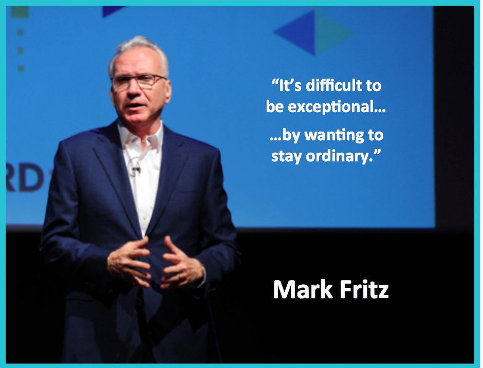 It's difficult to be exceptional... by wanting to stay ordinary.  ~ @MarkFritz  #WednesdayWisdom https://t.co/YzBbTP8EEa