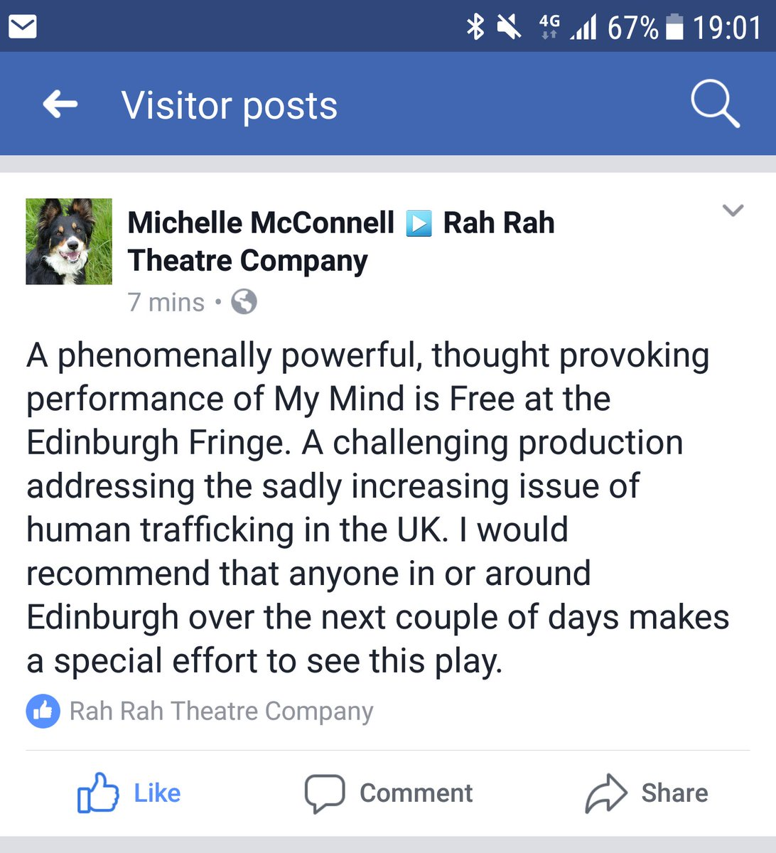 A great response from today's show. Only 2 shows left! #MyMindIsFree https://tickets.edfringe.com/whats-on/my-mind-is-free …