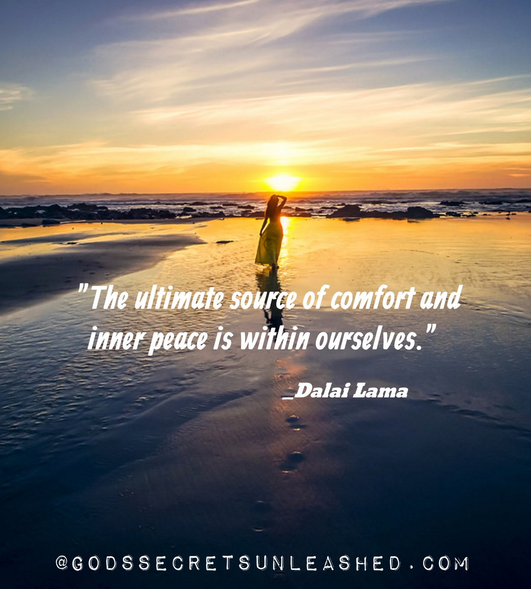 &quot;The ultimate source of comfort and peace is within ourselves.&quot; _Dalai Lama #comfort #peace #inner #Source #consciousness #awareness #Light<br>http://pic.twitter.com/M6XgkgDVQr