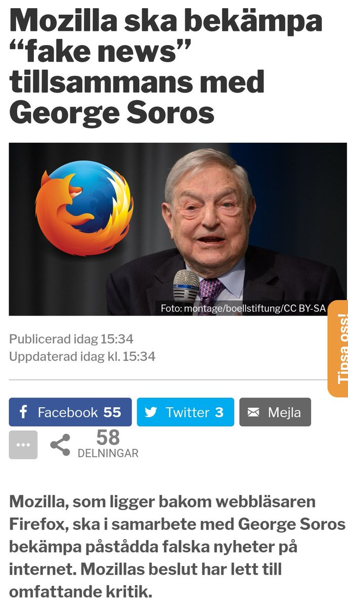#Mozilla to launch a censorship campaign in cooperation with George Soros. #MAGA @RT_com #svpol #DefendEurope<br>http://pic.twitter.com/MparePxX5S