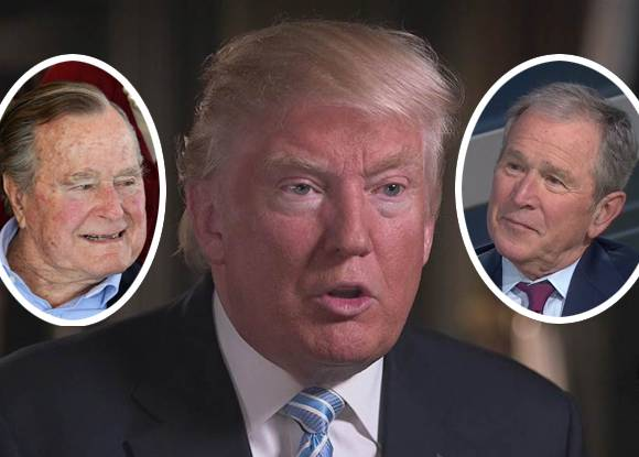 The Bush Presidents shame @realDonaldTrump with an eloquent response to white supremacists! https://t.co/g3Ej3YgrBo https://t.co/eKZyu6yAEg