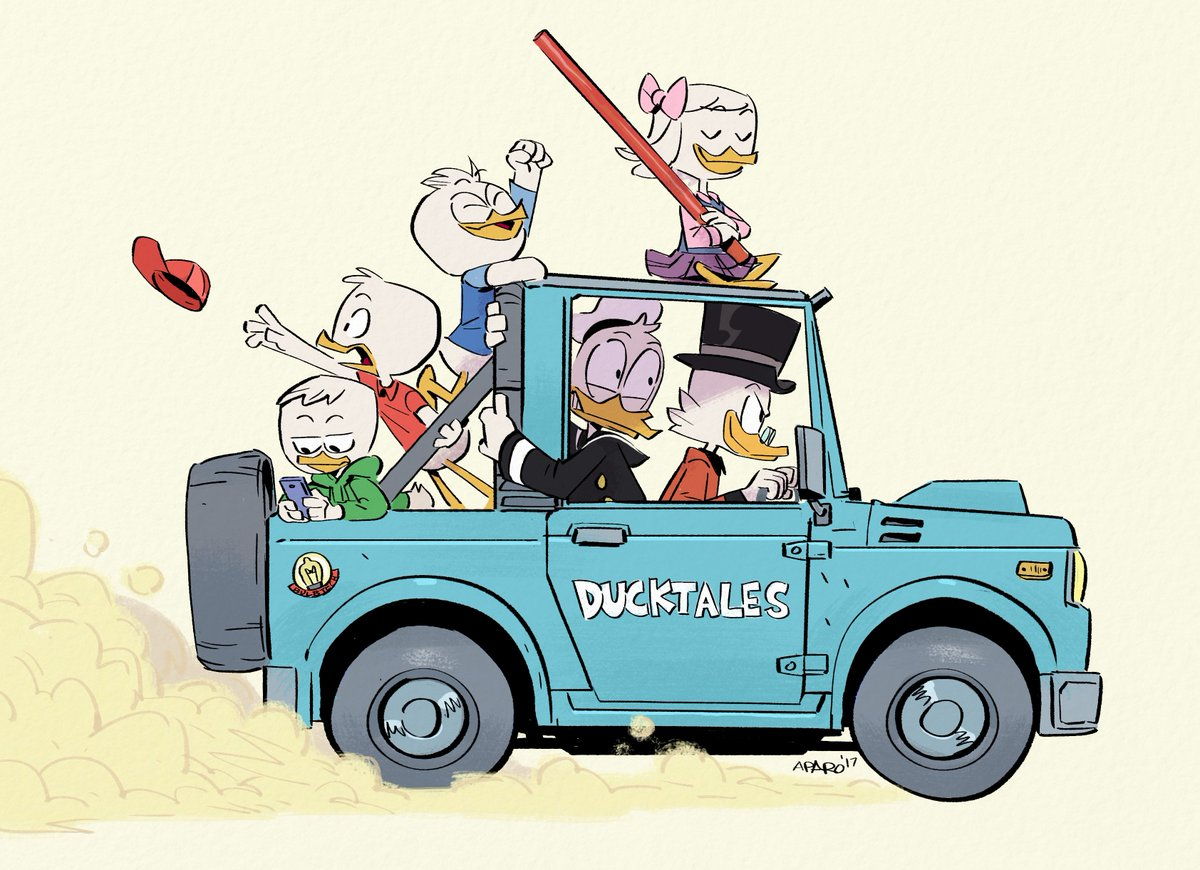 Just a low-key drive with the kids..with apologies to Toriyama-san #DuckTales #DuckTales2017 #fanart @DisneyXD<br>http://pic.twitter.com/rHPMTxzD65