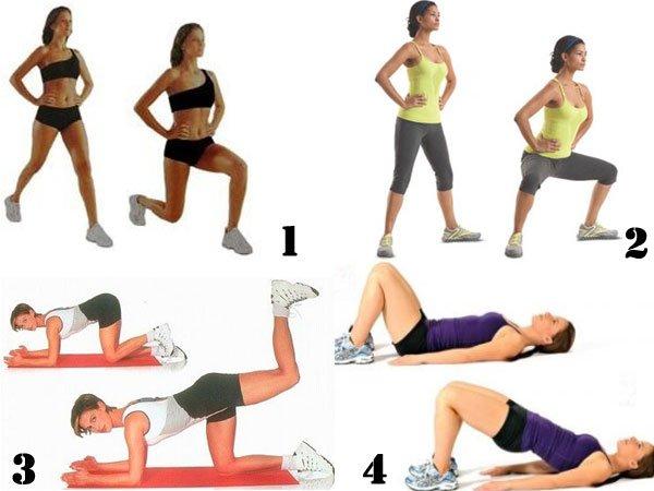 Упражнения Для Похудения Жопы И Ляшек. Питание и эффективные упражнения для похудения бедер у мужчин