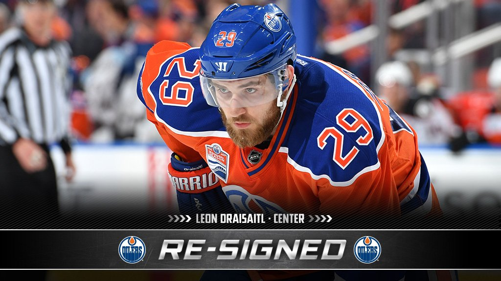 INKED! @Drat_29 is locked with the @EdmontonOilers on an eight-year ex...