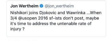 Maybe? It&#39;s become an on-going joke in 2017. It&#39;s *clearly* time for the #ATP and #TennisJournalism as well to address this issue. <br>http://pic.twitter.com/NNdSQL31o2