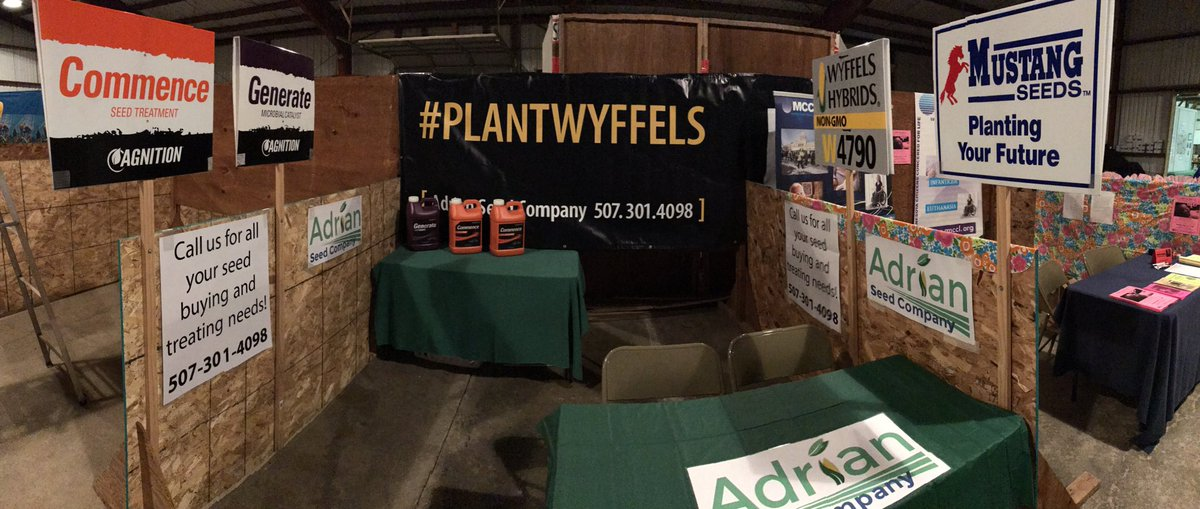 We are all set up @ the #cottonwoodcountyfair! Stop by and see us! #Agnition #commence #generate #mustangseeds #wyffelshybrids #plantwyffels<br>http://pic.twitter.com/rDXoDzb4X5