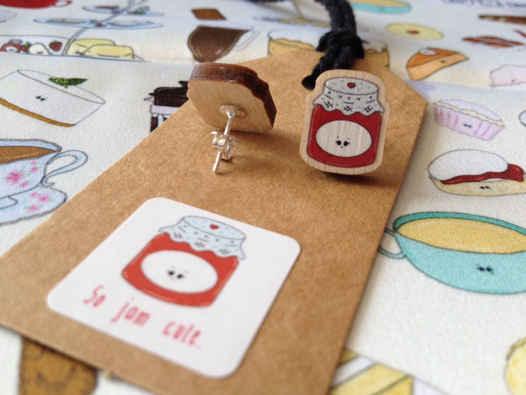 Who hasn&#39;t yet seen our little jammy earrings? #SoJamCute   http://www. the-taste-buds.co.uk/wearables/so-j am-cute &nbsp; …    #handmadehour #jewellery #ntbn #fashion #style #laser<br>http://pic.twitter.com/BZToQ3a64c