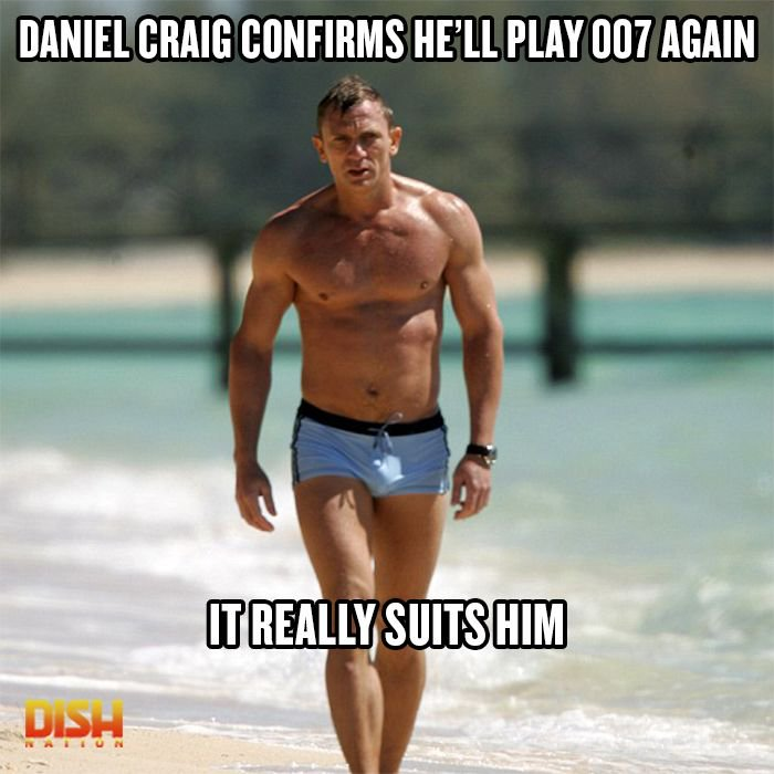 Are you here for #DanielCraig playing #JamesBond again?  #thirsty #007 #shirtless <br>http://pic.twitter.com/pLWtORyfSx