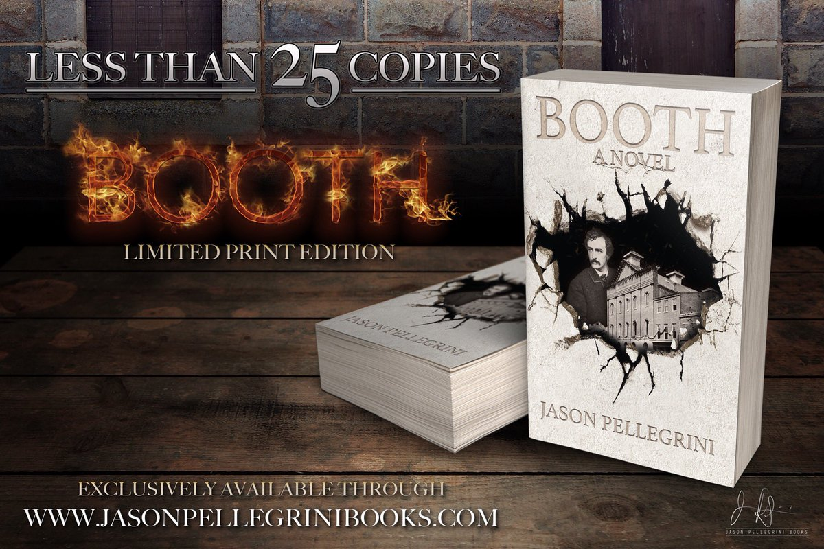 They&#39;re almost gone!! Get yourself a signed limited edition of #Booth at  http://www. jasonpellegrinibooks.com  &nbsp;   before they run out!! #goodreads <br>http://pic.twitter.com/bcvlopPrTg