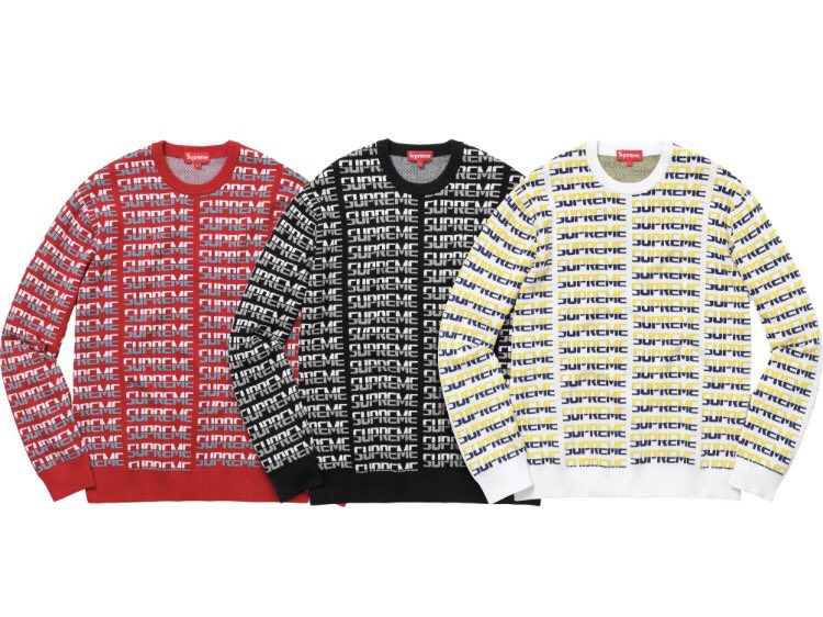 great look cba7b 82395 supreme repeat sweater red
