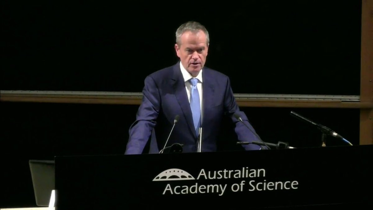 WATCH NOW: the Hon @billshortenmp speaks @ShineDome on his vision for Australian #science and #innovation. Watch:  https://www. science.org.au/livestream  &nbsp;  <br>http://pic.twitter.com/G0ZJiCNtat