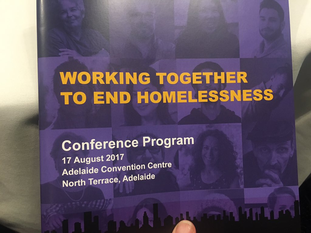 An honour to be giving a mini presentation @DonDunstan #HC2017 about the role of #SocEnt in helping to end #homelessness #zeroadelaide<br>http://pic.twitter.com/qRB5oX1LPT